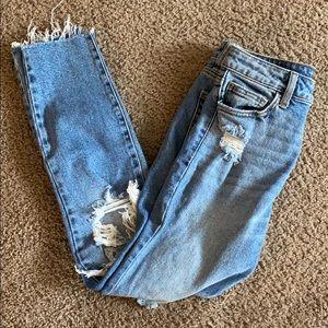 Light wash mom fit jeans